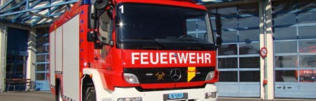 Ausstellung für Feuerwehrmaterial